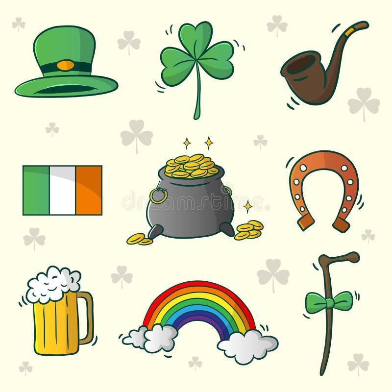 Gelukkige St Patrick Day royalty-vrije illustratie