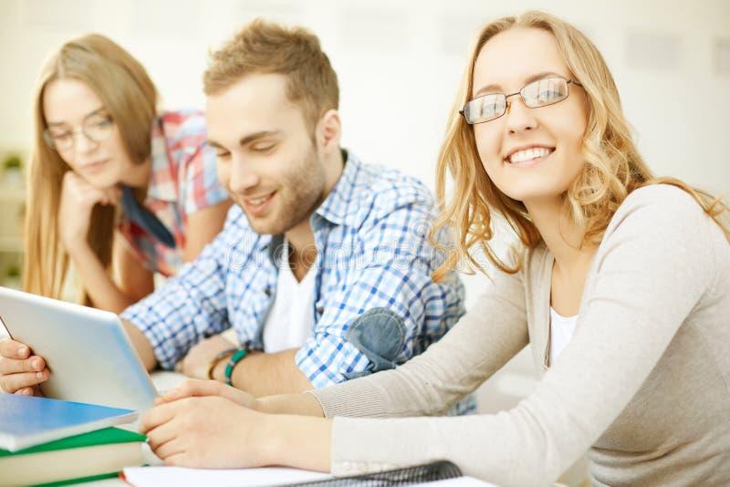 Gelukkige student stock fotografie