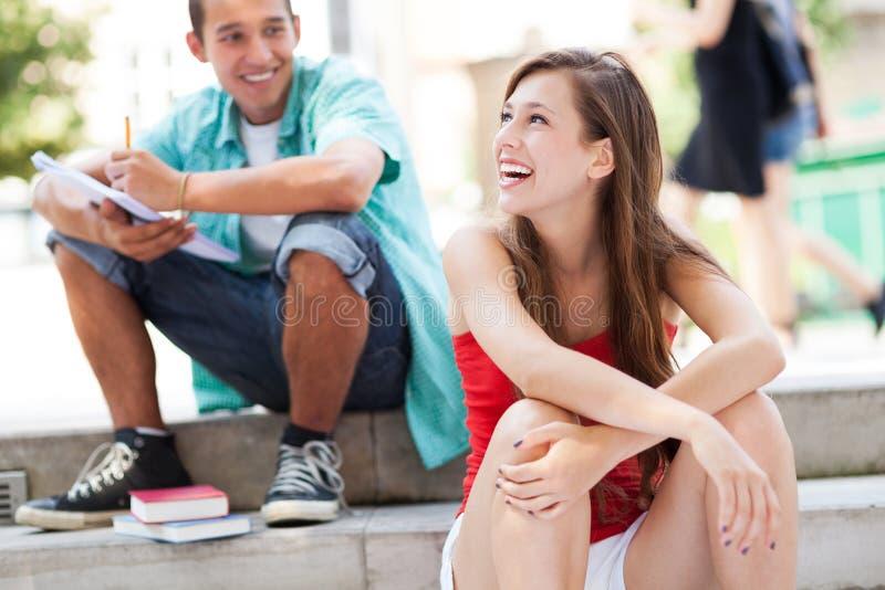Gelukkige Studenten Royalty-vrije Stock Fotografie