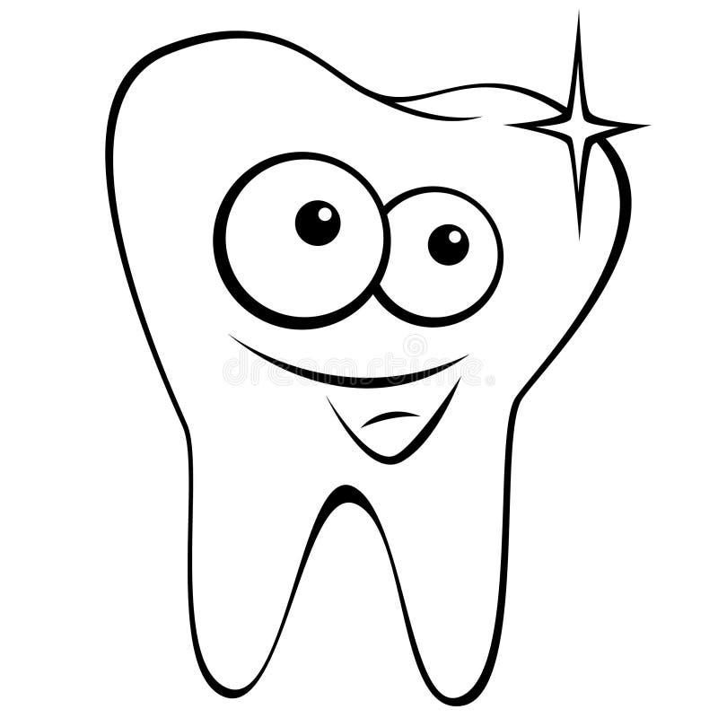 gelukkige tand vector illustratie illustratie bestaande