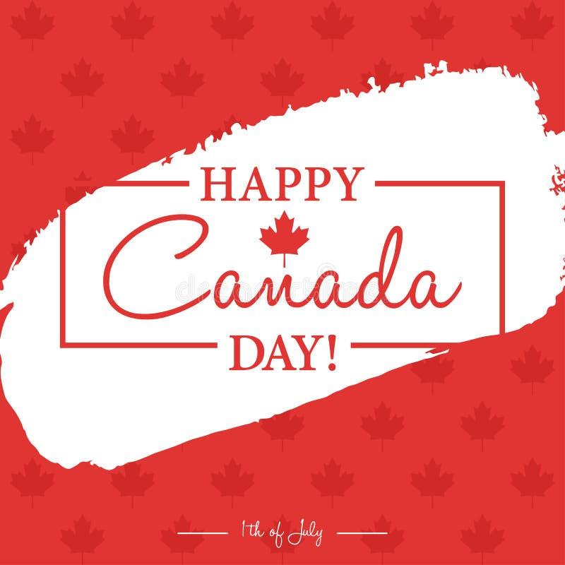 Gelukkige 1th van de Dagkaart of achtergrond van Juli Canada met Esdoornblad royalty-vrije illustratie