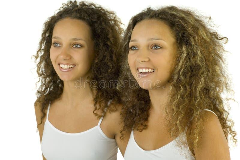 Gelukkige tweelingen royalty-vrije stock foto