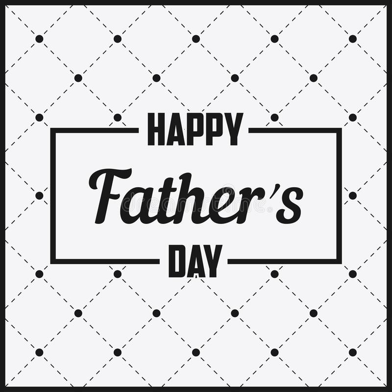 Gelukkige Vader Day die - in kader van letters voorzien De kaart van de groet royalty-vrije illustratie