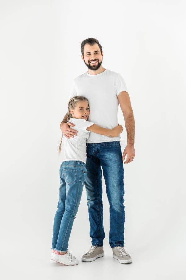Gelukkige vader en dochter royalty-vrije stock foto