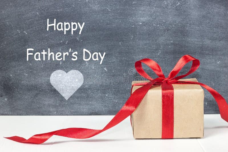 Gelukkige Vader` s dag Giftdoos voor papa stock afbeelding