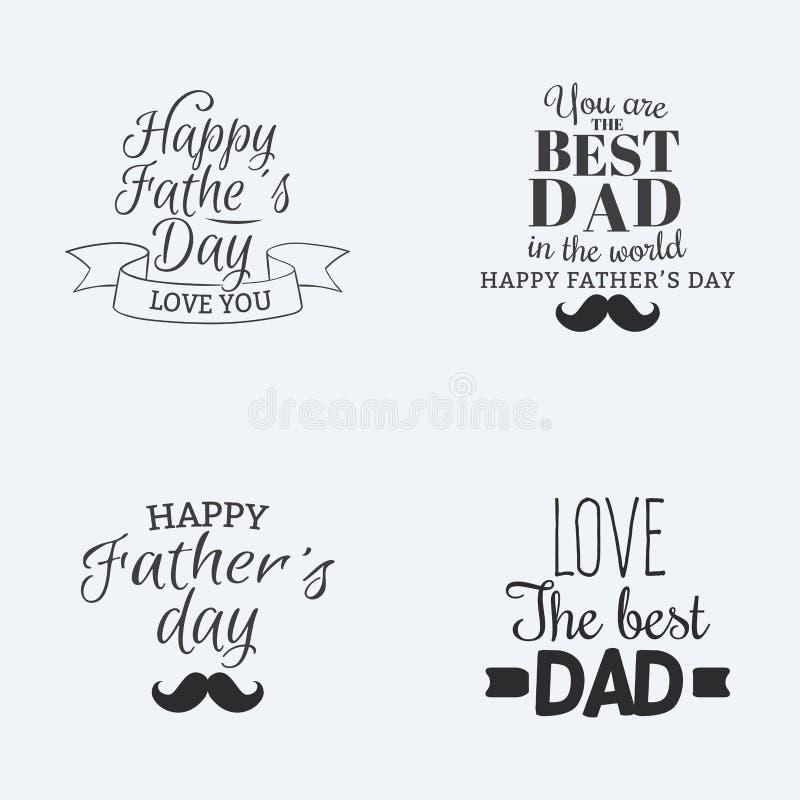 Gelukkige vaderdag royalty-vrije illustratie