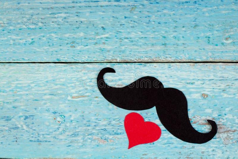 Gelukkige Vaderdag op houten achtergrond symbolen van liefde, vader, mens Gelukkige de dagachtergrond van Valentine ` s Exemplaar royalty-vrije stock fotografie