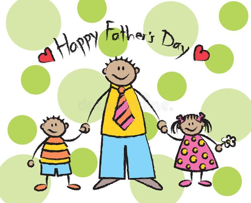 Gelukkige Vaderdag - tan vector illustratie
