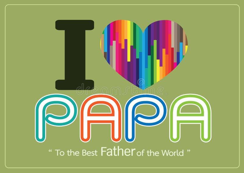 Gelukkige Vaderdagkaart, liefdepa of DAD royalty-vrije illustratie