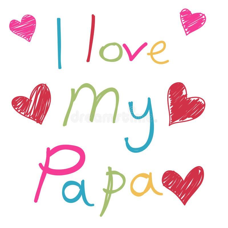 Gelukkige Vaderdagkaart, liefdepa vector illustratie
