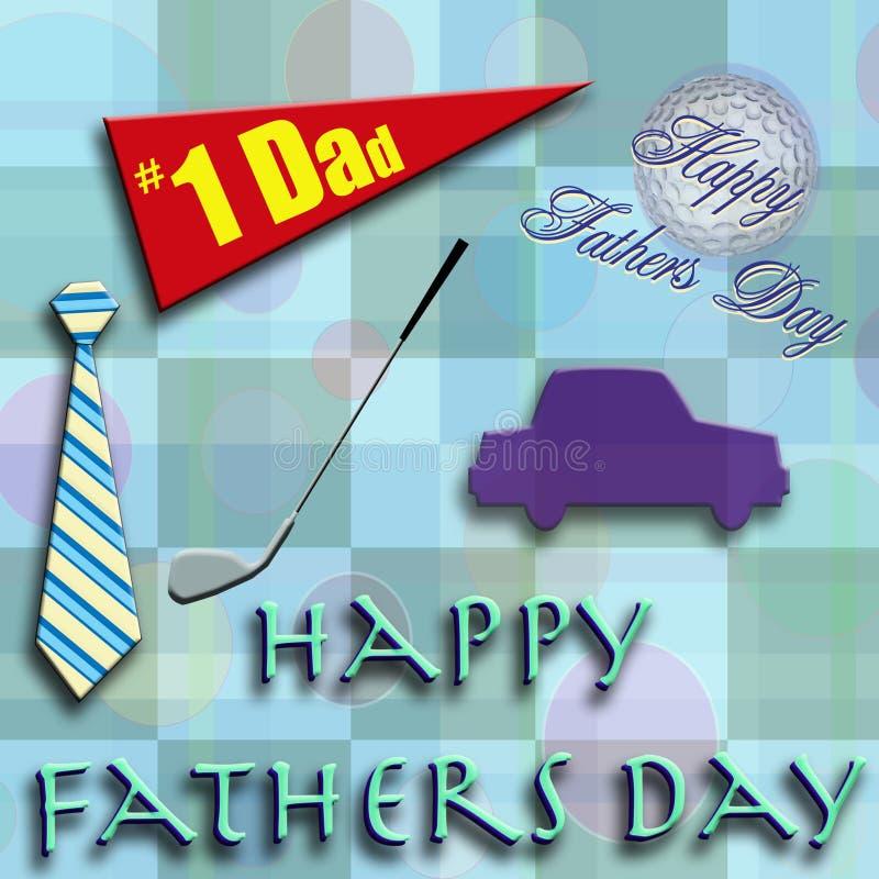 Gelukkige Vaders Dag 5 stock illustratie