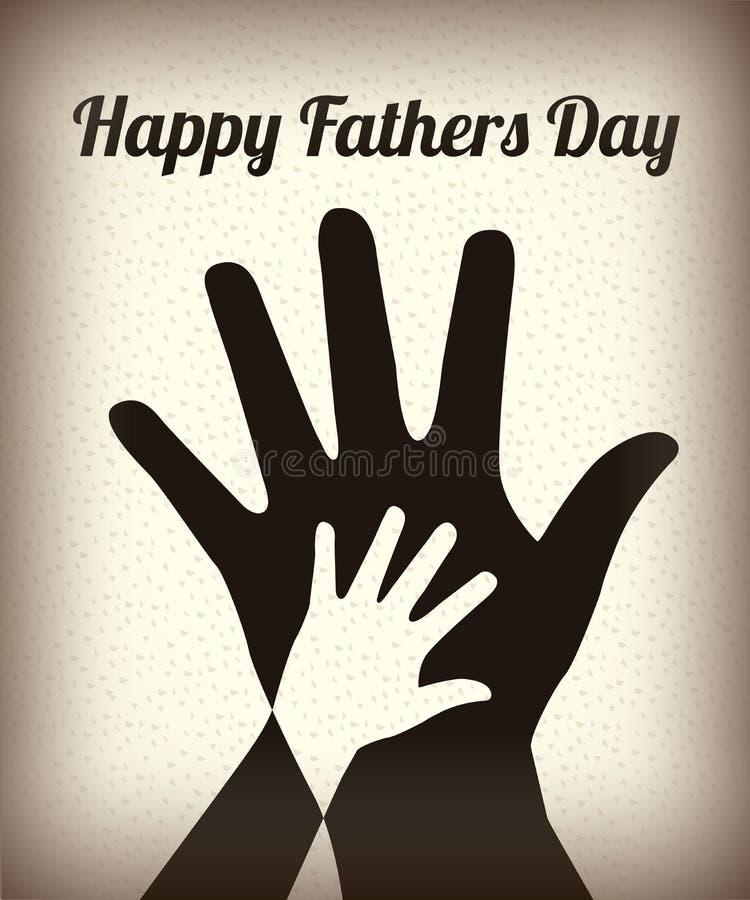 Gelukkige Vadersdag vector illustratie