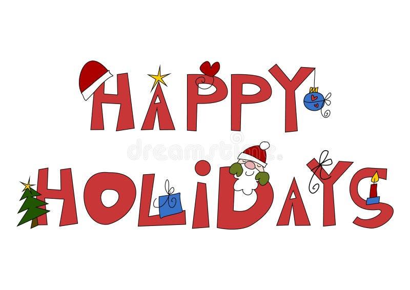 Gelukkige Vakantie! stock illustratie