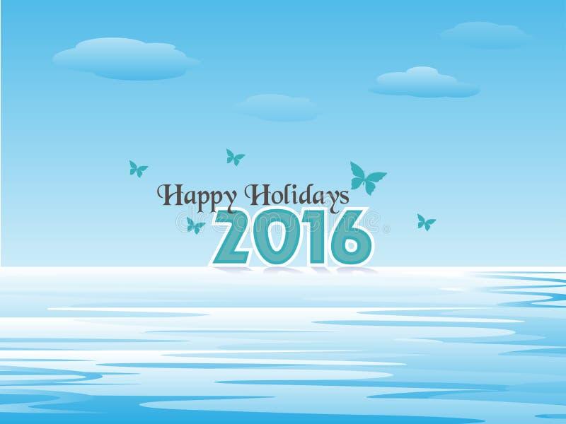 Gelukkige Vakantie 2016 vector illustratie