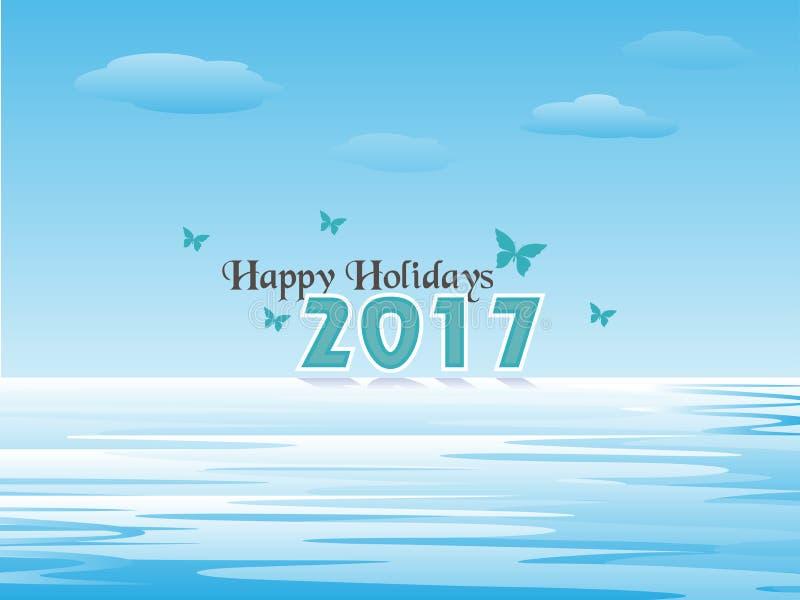 Gelukkige Vakantie 2017 royalty-vrije illustratie