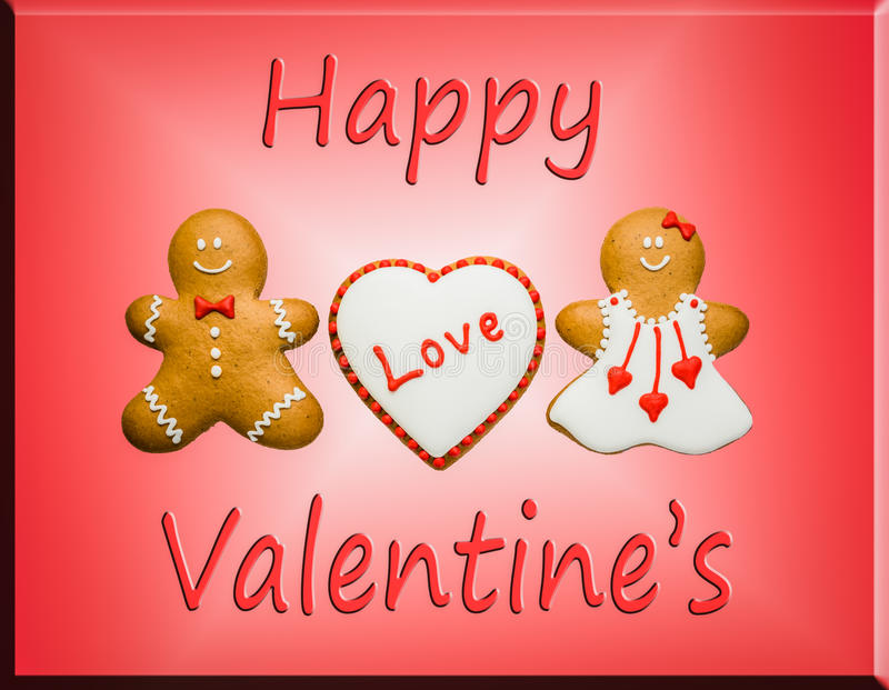 Gelukkige valentijnskaart royalty-vrije stock foto's