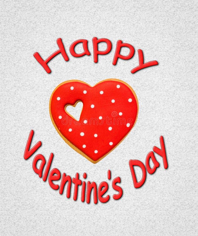 Gelukkige valentijnskaart royalty-vrije stock afbeeldingen