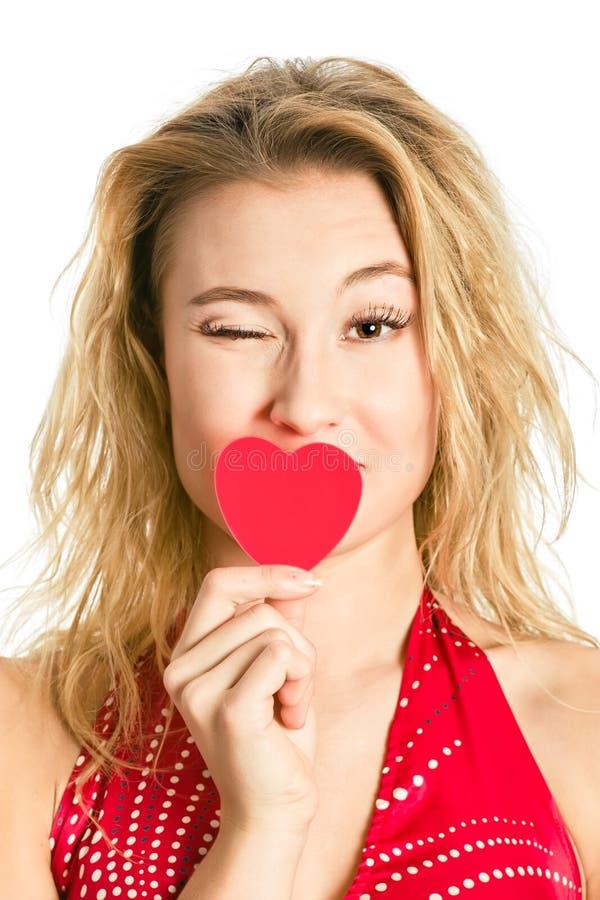 Gelukkige valentijnskaart`s dag stock fotografie