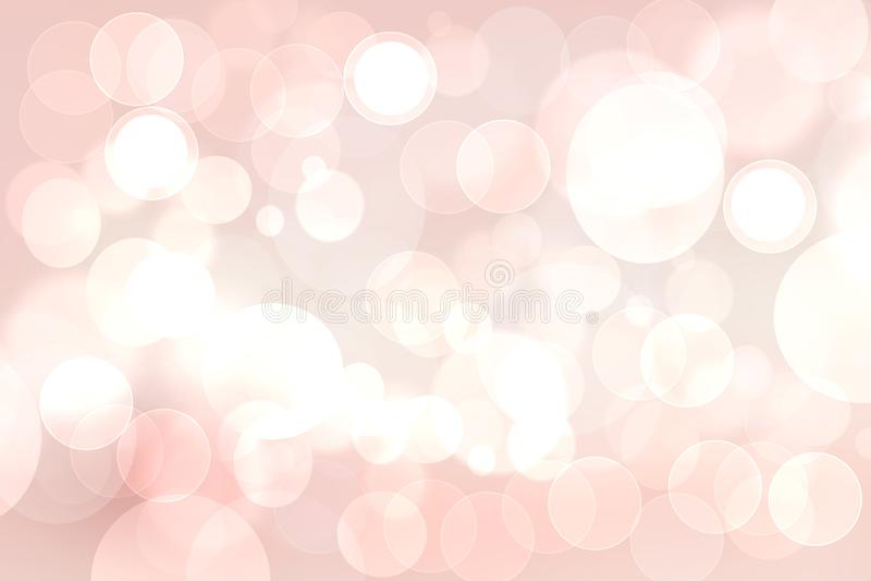 Gelukkige Valentijnskaarten of huwelijksdag De abstracte gevoelige roze achtergrond van de liefde romantische vakantie met witte  royalty-vrije illustratie
