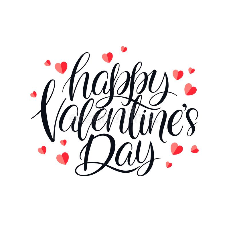 Gelukkige valentijnskaartendag vector illustratie