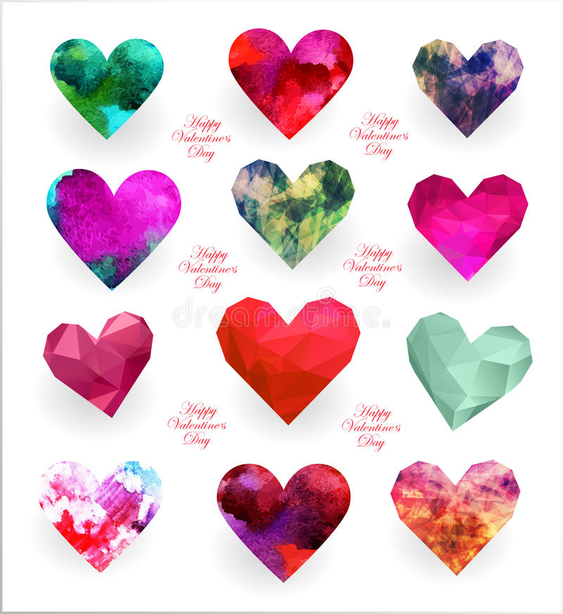 Gelukkige valentijnskaartendag stock illustratie