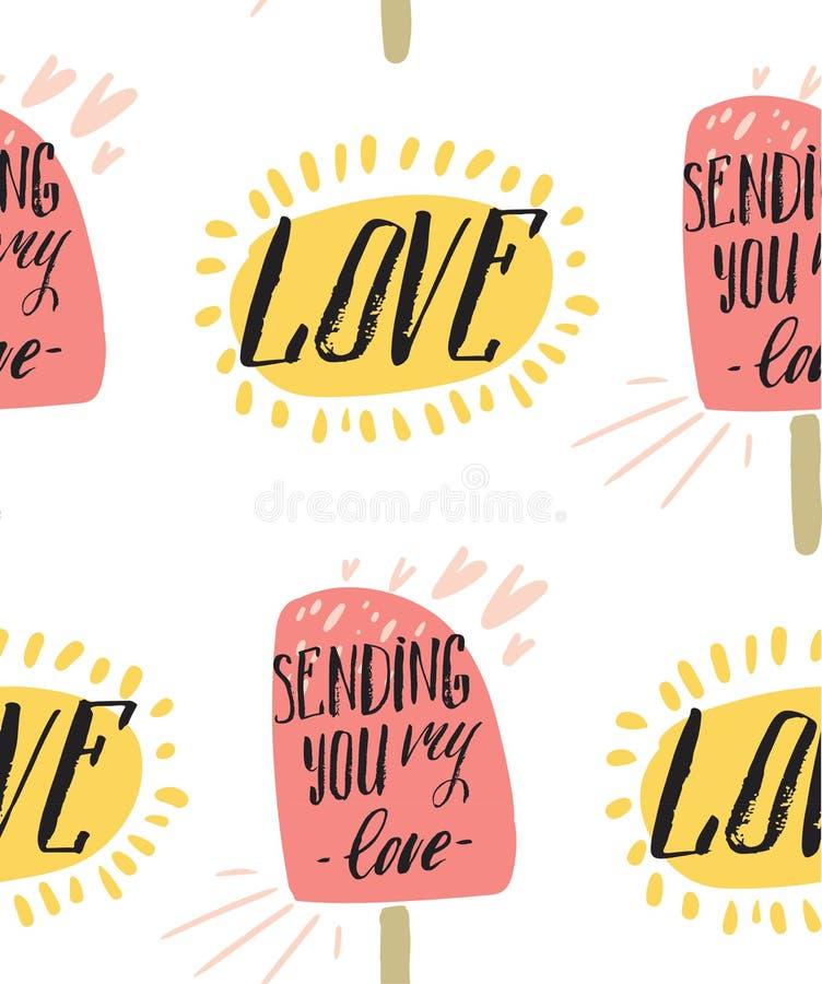 Gelukkige valentijnskaartendag en het wieden van kaarten vector illustratie