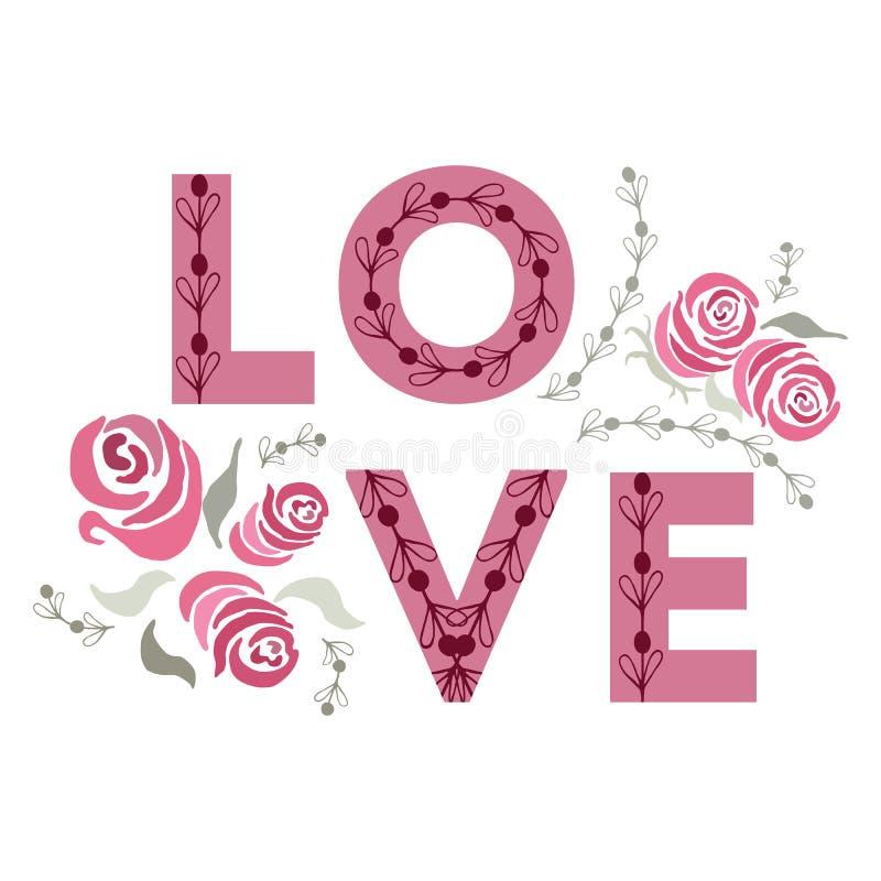 Gelukkige valentijnskaartendag en het wieden van kaarten Liefde stock illustratie