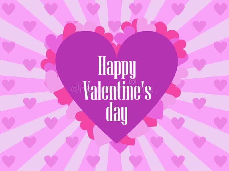 Gelukkige valentijnskaartendag Feestelijke achtergrond voor groetkaarten en banners Vector vector illustratie