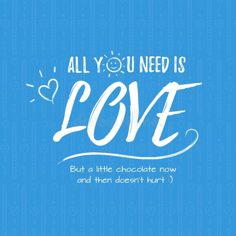 Gelukkige Valentijnskaartendag het van letters voorzien groet - Typografieaffiche met met woorden van liefde Vectorillustratie vo stock fotografie