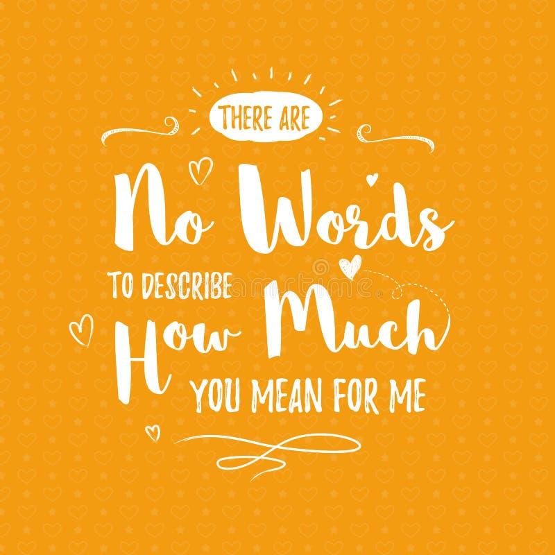 Gelukkige Valentijnskaartendag het van letters voorzien groet - Typografieaffiche met met woorden van liefde Vectorillustratie vo stock afbeelding