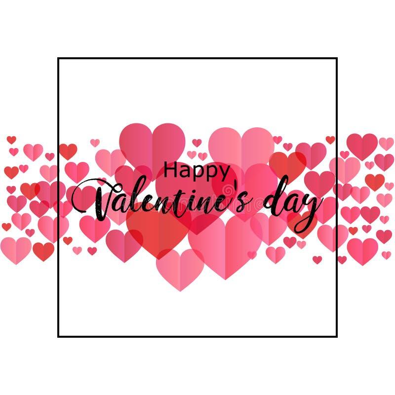 Gelukkige valentijnskaartendag Romantische illustratie perfect voor ontwerp g stock illustratie