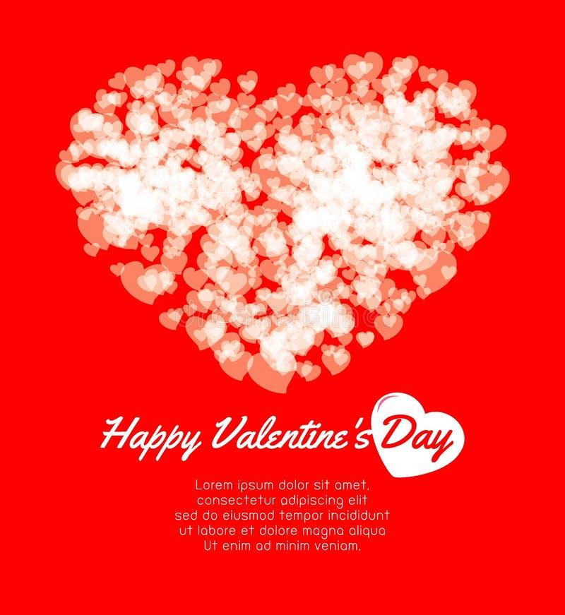 Gelukkige van de de Daggroet van Valentine ` s de kaartachtergrond, Paar in liefde, liefje, vectorillustratie royalty-vrije illustratie