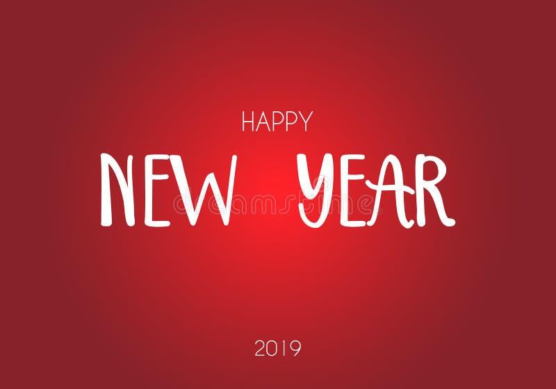 Gelukkige van de de vakantiegroet van de Nieuwjaar 2019 winter de kaartontwerpsjabloon Partijaffiche, banner of uitnodiging het g stock illustratie