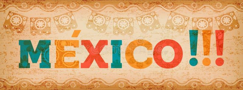 Download Gelukkige Van De De Vakantietypografie Van Mexico Het Citaatbanner Vector Illustratie - Illustratie bestaande uit feestelijk, mexicaans: 114225799