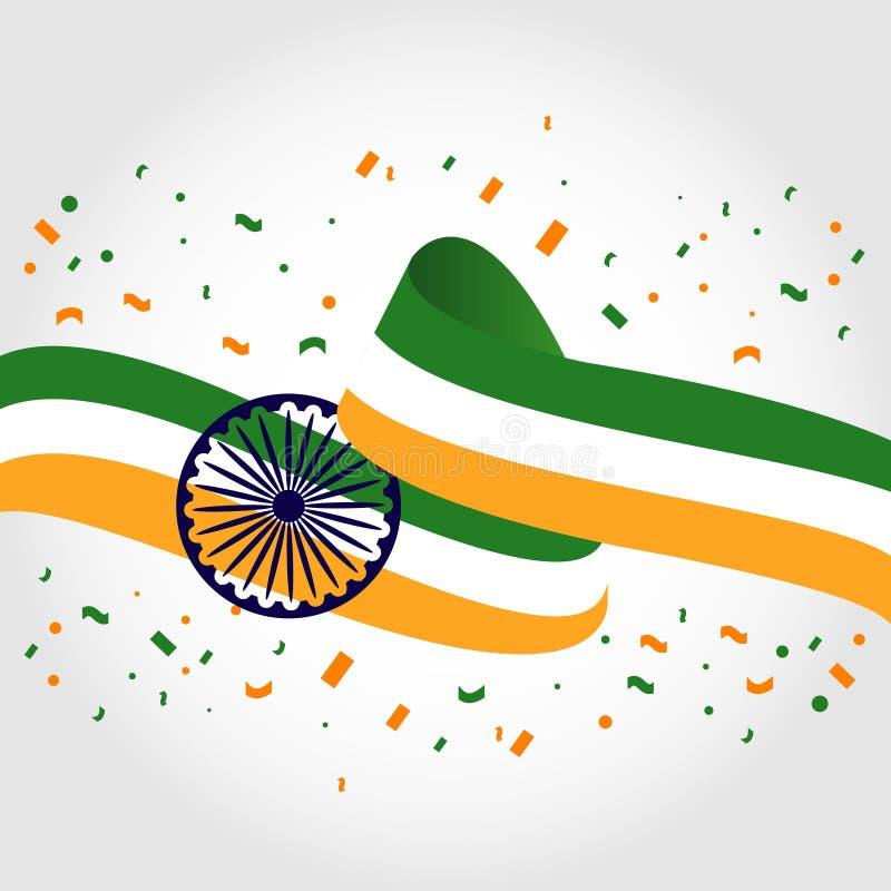 Gelukkige van het de Dag Vectormalplaatje van India Nationale het Ontwerpillustratie stock illustratie