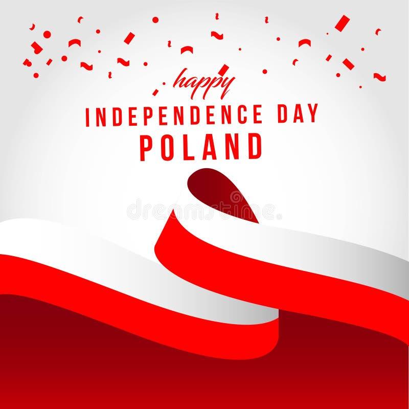 Gelukkige van het de Dag Vectormalplaatje van Polen Onafhankelijke het Ontwerpillustratie royalty-vrije illustratie