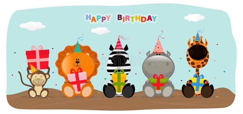 Gelukkige verjaardag vector illustratie