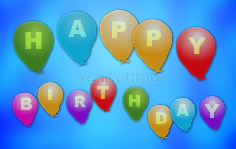 Download Gelukkige Verjaardag stock illustratie. Illustratie bestaande uit grafiek - 42158