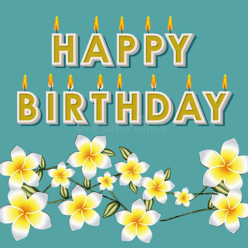 Beroemd Gelukkige Verjaardag Bloemen Vector Illustratie - Illustratie  KB-55
