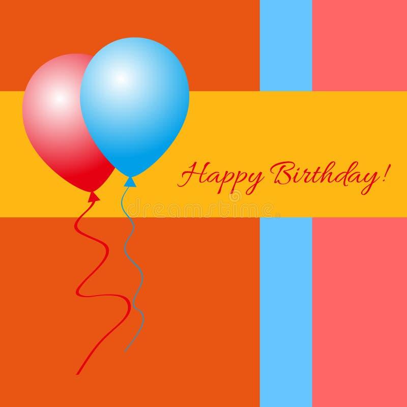 Gelukkige Verjaardag! - De Kaart van de groet royalty-vrije illustratie