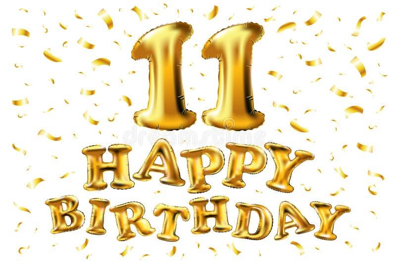 Verwonderlijk Gelukkige Verjaardag 11 Jaar Van De Verjaardagsvreugde De Vierings QH-04