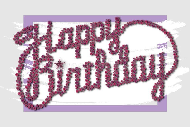 Gelukkige verjaardag - kaart royalty-vrije stock foto's
