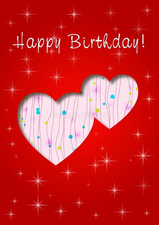 Gelukkige verjaardag met liefde royalty-vrije illustratie