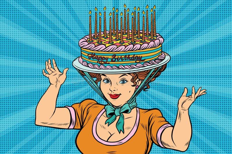 illustratie verjaardag vrouw