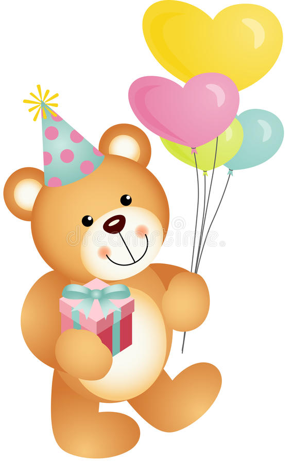 Gelukkige Verjaardag Teddy Bear stock illustratie