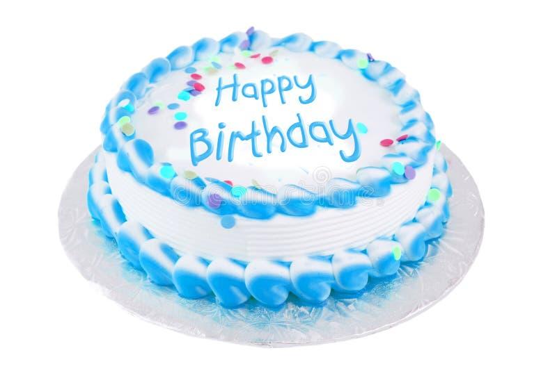 Gelukkige verjaardags feestelijke cake stock foto's