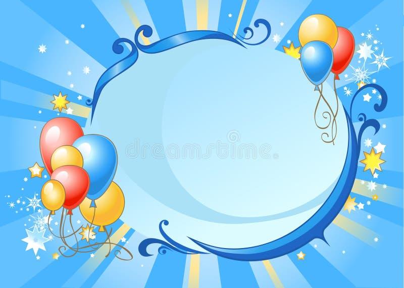Gelukkige verjaardagsachtergrond stock illustratie