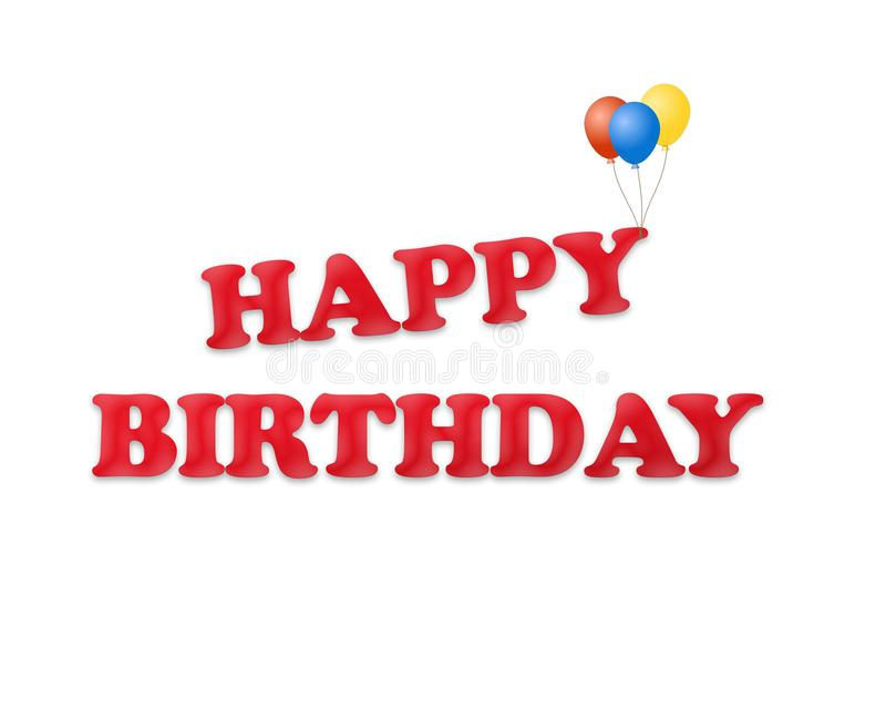 Gelukkige Verjaardagsachtergrond met ballonsillustratie royalty-vrije illustratie