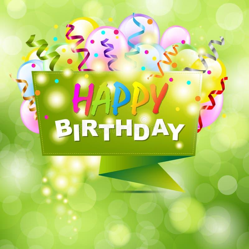 Gelukkige Verjaardagsachtergrond met Origami royalty-vrije illustratie