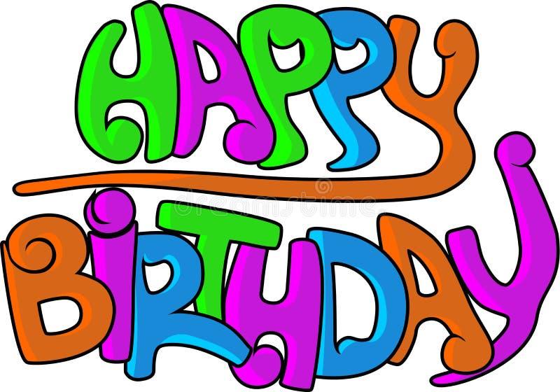 Gelukkige verjaardagsgraffiti vector illustratie
